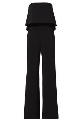 0bb1255b42b Jay Godfrey Black Retro Ruffle Jumpsuit