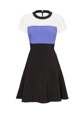 Colorblock Crepe Flip Dress  by kate spade new york