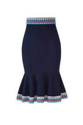 Rainbow Trim Knit Skirt by Milly