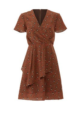 Rust Leopard Print Dress by Slate & Willow