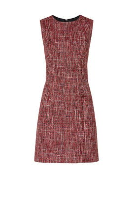 Red Tweed Sheath by Adam Lippes Collective