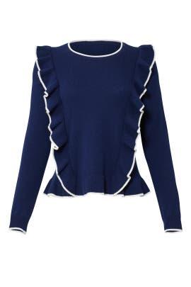 Nora Ruffle Sweater by Draper James