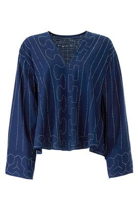 Navy Orchid Top by Elizabeth and James