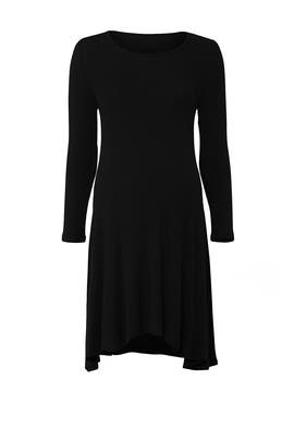 Black Trapeze Maternity Dress by Ingrid & Isabel