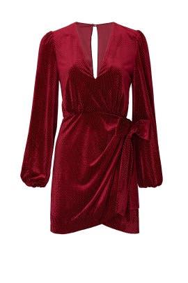 Red Velvet Mini Dress by La Maison Talulah