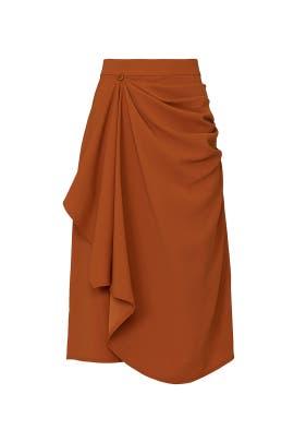 Orange Draped Skirt by Mossi