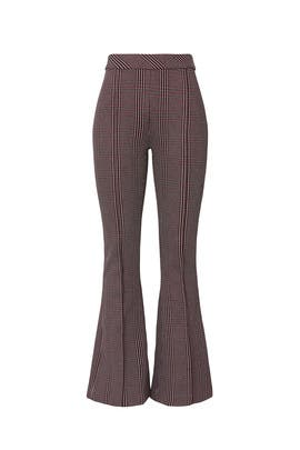 Plaid Cropped Flare Trousers by Rosetta Getty