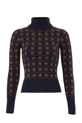 Petrol Mix Night Sweater by Temperley London