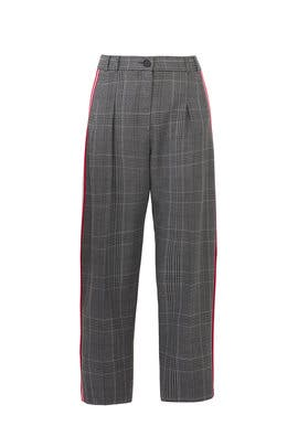 Plaid Side Stripe Pants by Tara Jarmon