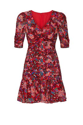 Red Leopard Dress by Tanya Taylor