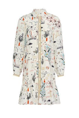 Printed Cora Dress by Tory Burch