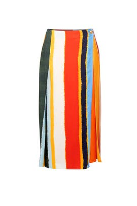 Striped Fiona Skirt by Tory Burch