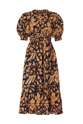 Printed Indah Dress by Ulla Johnson