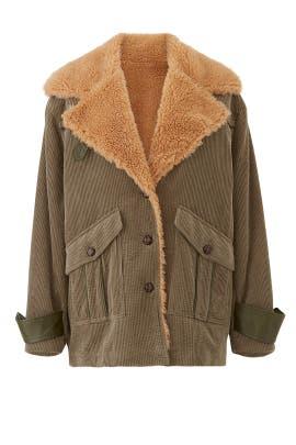 Faux Sherpa Corduroy Jacket by Avec Les Filles