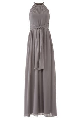 Grey Daniela Gown by Monique Lhuillier Bridesmaid