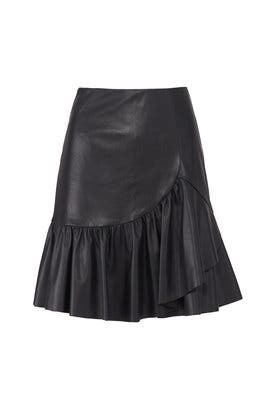 Ruffled Vegan Leather Skirt by Rebecca Taylor