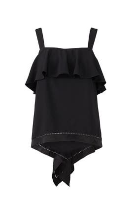 Black Portland Top by Rachel Zoe