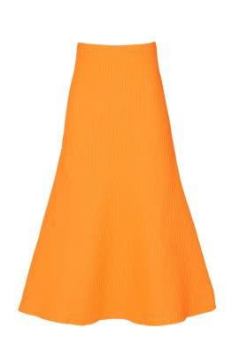 Tech Poly Ribbed Skirt by Tibi