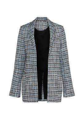 Blue Tweed Blazer by Adam Lippes Collective