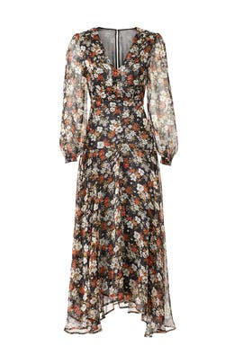 Floral Handkerchief Hem Midi Dress by ASTR