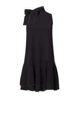 Black Pico Stitch Alyson Dress by Cooper & Ella