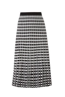 Pleated Check Skirt by Derek Lam 10 Crosby