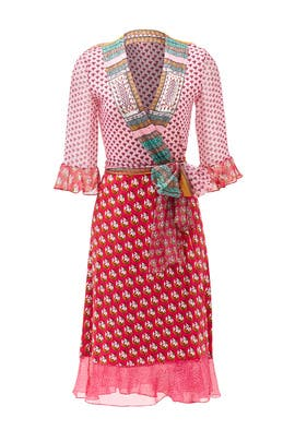 Pink Nieves Wrap Dress by Diane von Furstenberg