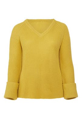 Yellow Relaxed Sweater by LOST INK