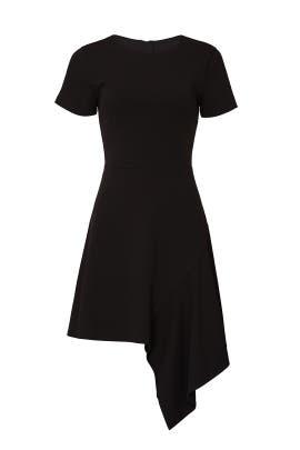 Black Drape Hem Dress by Slate & Willow