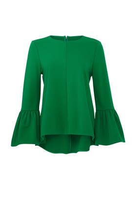 Weston Ruffle Sleeve Top by Tibi