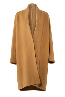 Camel Button Coat by VINCE.