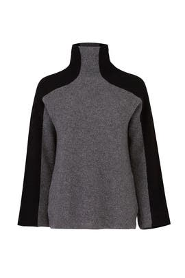 Smoke Two Tone Sweater by BROWN ALLAN