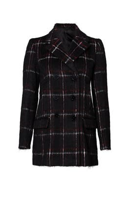 Black Windowpane Coat by The Kooples