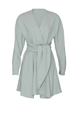 Chalky Drape Wrap Dress by Tibi