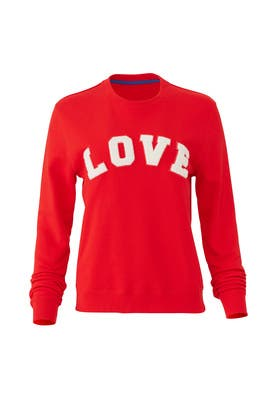 Red Love Sweatshirt by Tory Sport