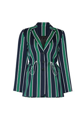 Green Striped Blazer by Victoria / Tomas