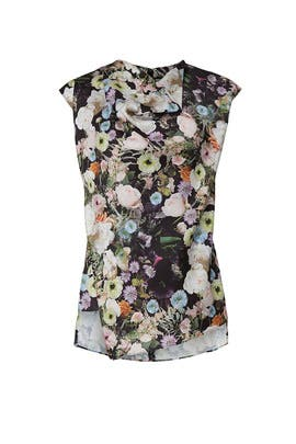 Floral Cowl Neck Top by Adam Lippes Collective