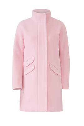 Pink Cocoon Coat by J.Crew