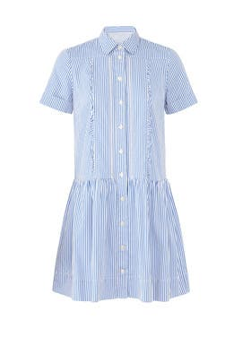 Pinstripe Pleated Shirtdress by kate spade new york