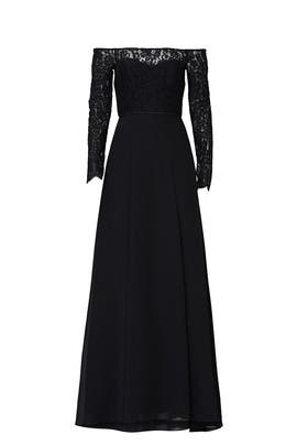 Black Lace Bodice Gown by Love by Theia