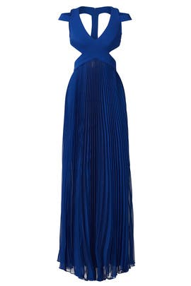 Royal Blue Window Back Gown by Mignon