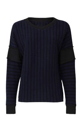 Navy Striped Sweater by MM6 Maison Margiela