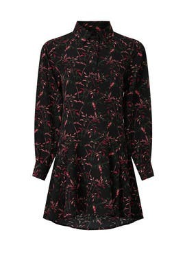 Black Floral Shirtdress by Peter Som Collective