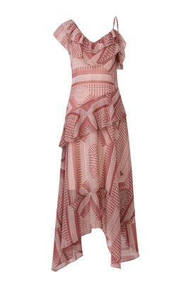 Red Printed Veronica Maxi by Rebecca Minkoff