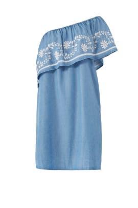 Blue Rita Dress by Rebecca Minkoff