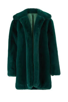 Emerald Dreaming Faux Fur Coat by somedays lovin
