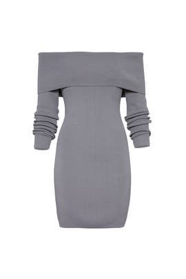 Grey Vana Knit Dress by STYLESTALKER