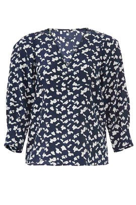 Navy Spots Rena Top by Tanya Taylor