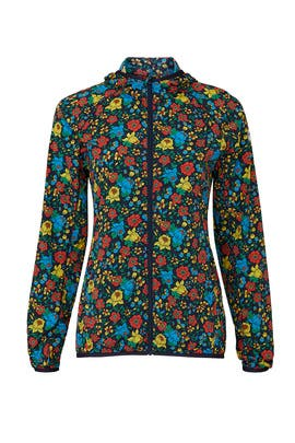 Floral Nylon Packable Jacket by Tory Sport