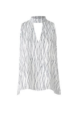 White Printed Billy Top by Waverly Grey